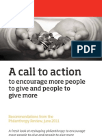 A Call to Action to Encourage More People to Give and People to Give More - Philanthropy Review, 2011