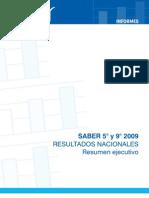 Informe nacional de resultados de SABER 5º y 9º, 2009. Resumen ejecutivo