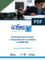 Orientaciones para la lectura e interpretación de los resultados. Guía para las secretarías de educación