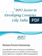 Role of BPO Sector in Developing Countries Like India