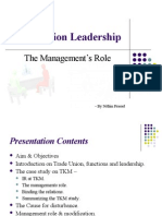 Trade union leadership and Management's role