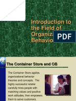 Introduction to Org. Behaviour