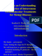 Towards an Understanding and Practice of Intravenous Orthomolecular Treatments for Mental Illnesses