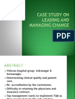 Case Study on Leading and Managing Change