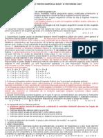 Grile Propuse Pt-Examen Buget Si Trezorerie 2007-1