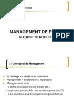 Management Artistic - Proiect - Introduce Re