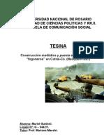 """""""Construcción mediática y puesta en escena de los """"fogoneros"""" en Cutral-Có. (Neuquén-1997)"""" por Muriel Guidoni"""
