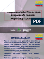 Empresa de Familia, Responsabilidad Social y Mercadeo