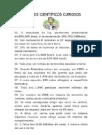 50 FATOS CIENTÍFICOS CURIOSOS