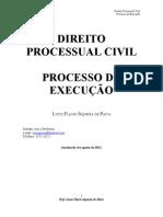 2011 Apostila Processo de Execução - Prof. Lúcio Flávio
