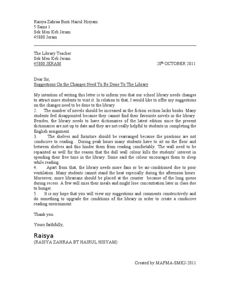 Formal Letter Formal Letter Sample Formal Letter Template