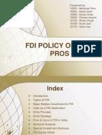 FDI in India-Pros & Cons
