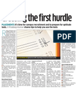 Aptitute Test Choosing the First Hurdle