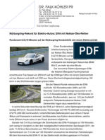 Nürburgring-Rekord für Elektro-Autos