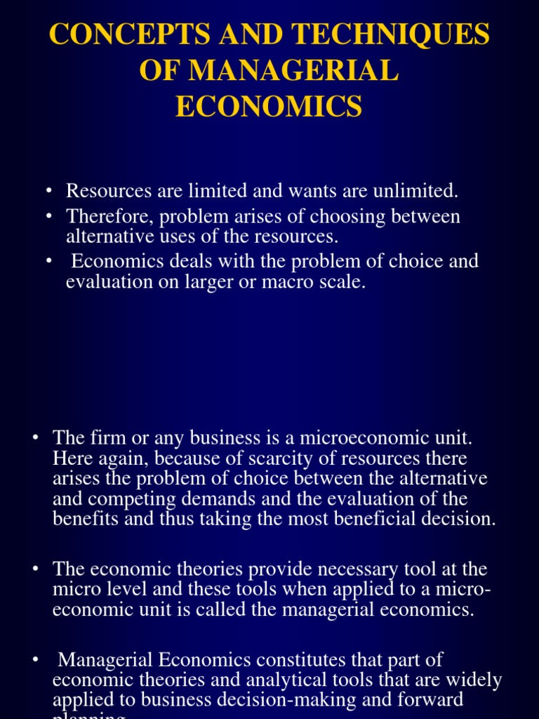 managerial economics helps in decision making