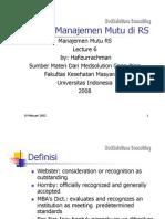 Materi 6 - Akreditasi Rumah Sakit