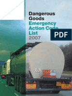 Dangerous Goods EAC List