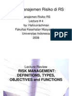 Materi 4 - Introduction to Hospital Risk Management