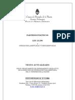 Ley Org Partidos Ley23298