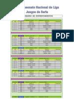 II Liga Nacional de Juegos de Serie, calendario y alineaciones equipos