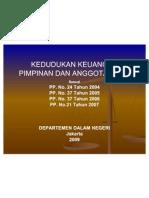 Kedudukan Keuangan DPRD KUMPULAN