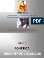AULA 01 - FONÉTICA