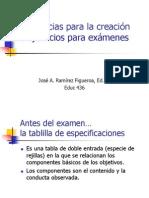 Creación de ejercicios para exámenes
