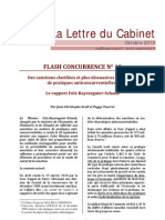 N°10. Octobre 2010 - Sanctions pratiques anticoncurrentielles