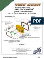 Installation Manual Reverse Gear 5 Speed Revision 7
