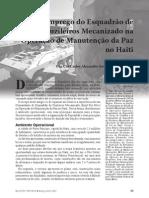Emprego Do Esquadrão de Fuzileiros Mecanizados no Haiti