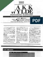 Lesson Zakk Wylde - Pent a Tonic Hardcore Booklet