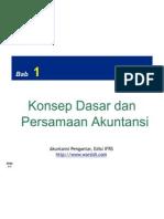 Konsep dasar dan persamaan akuntansi