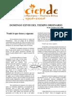 Domingo Xxviii Tiempo Ordinario