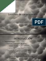 Clase Fracturas Mano y Antebrazo