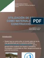 Utilización de RSU como materiales de construcción