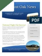 November 2011 Post Oak News