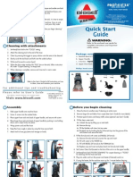 Pro Heat Carpet Cleaner Quick Start Guide