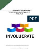 Programa + Anexos Lista CAAE InvolUCrate 2012