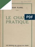 Le Chant Pratique - Jean-Planel