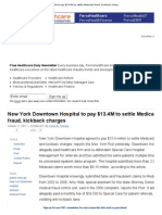 New York Downtown Hospital to Pay $13
