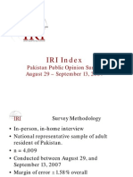 IRI Pakistan Public Opinion Survey 2007