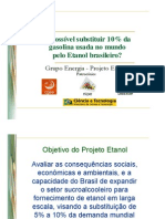 Objetivo Do Projeto Etanol