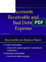 Accounts Recievables and Bad Debts