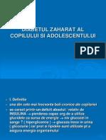 Diabetul Zaharat Al Copilului Si Adolescentului
