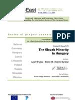 The Slovak Minority in Hungary