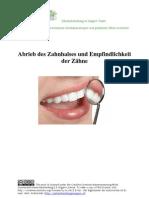 Zahnfleischrückgang, Zahnempfindlichkeit