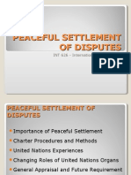 Peaceful Settlement of Disputes