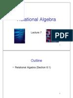 Slides 7 Relational Algebra