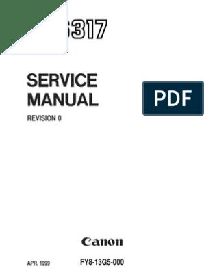Canon NP6317 Service Manual | Fotocopiadora | Escáner de