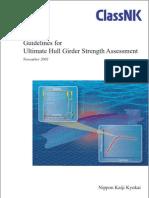 Guidelines for Ultimate Hull Girder Strength